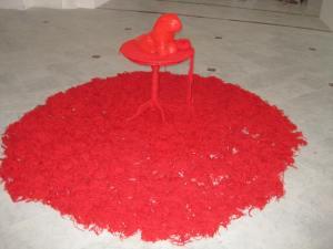 Leo rosso, in roter Wolle,info@danielefortuna.com