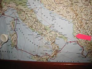 Vlores, und die Route 2009 von Italien