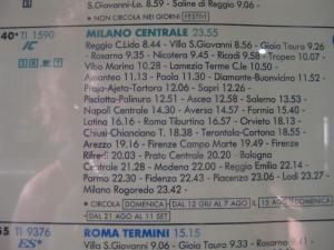 Von 9 bis Mitternacht nach Milano! 15 Std. im Zug...