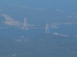 2 Pylonen f.d.3.Brücke: unser Ankerplatz