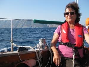 Flottes Segeln neben d.griech. Insel Samos