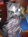 Rucksack schon 2 Tg. vorher gepackt