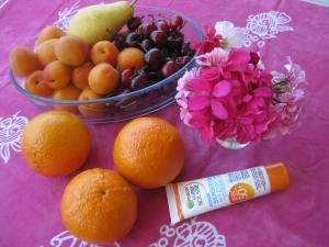 Mein 67.Geburtstag mit 25°,Kirschen,Aprikosen, Orangen