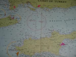 Seekarte Bozburun-Datca-Knidos-Turgut Reis