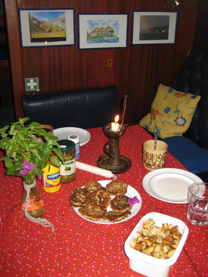 Zur Begrüßg in Korfu Vesper, Brotwürfele +Küchle