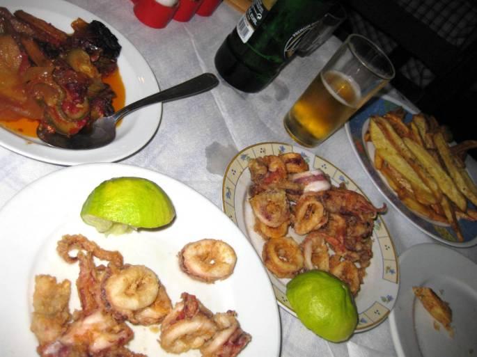 Calamari + Zucchini-Aubergine