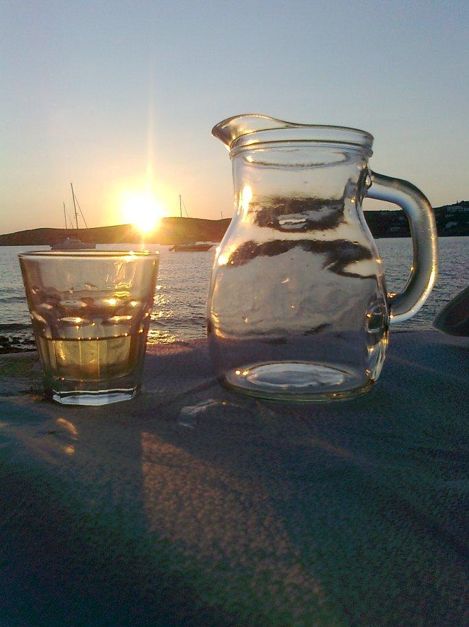 Paros, letzter Abend