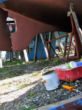 Corfu boatyard (8)Antifouling gestrichen