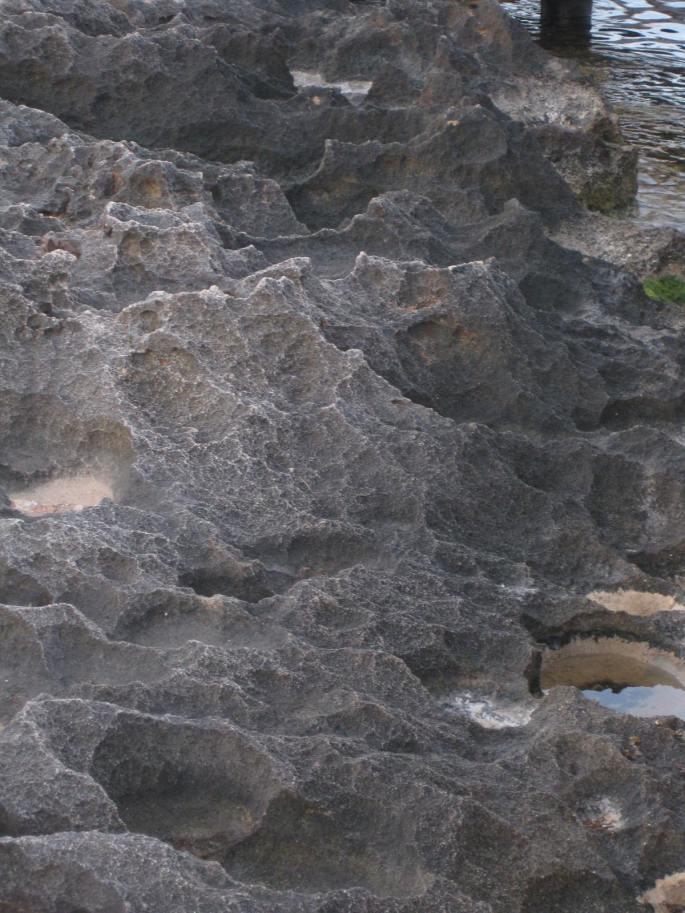 Bizarre zerklüftete Felsenküste LEUCA