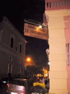 Gallipoli, Taverna Fontanella wie unser Hafen