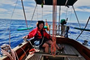Noch segeln wir zur Insel Erikousa