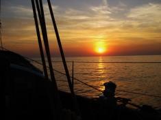 Abend auf See
