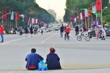Prachtstrasse in Tirana