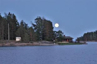 Der Mond über unserem Ankerplatz (Copy)