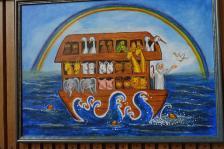 Schöne naive Kunst in der neuen Kirche (Copy)
