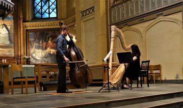 Vaasa. Harfe+Bass im Konzert (2)