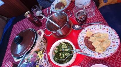 Malskären,1.7. Ravioli+Tomatensoße