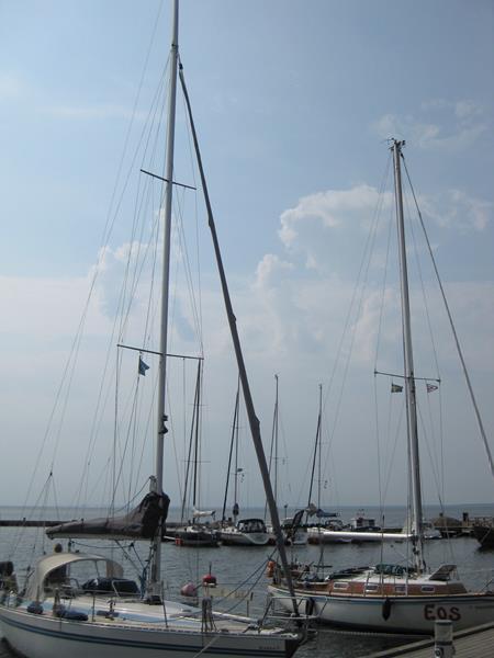 Nachsaison, nur 2 Boote am Gästesteg (Copy)