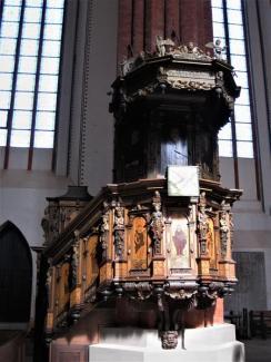 St. Marien, Greifswald, gotische Kanzel (5) (Copy)